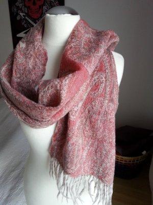 Schal von Virmani rose/grau