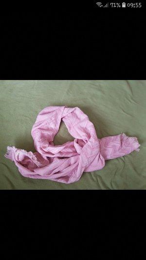 Schal Wolle neu rosa Fransen Verhandlungsbasis
