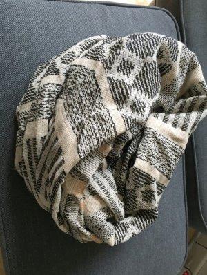 Schal Zara Muster grau beige