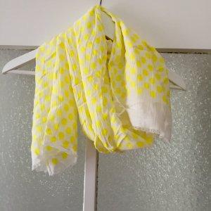 Schal Zara weiß mit gelben Punkten