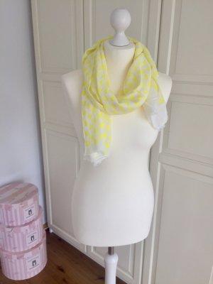 Zara Écharpe jaune primevère-blanc cassé
