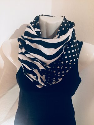 Snood wit-zwart