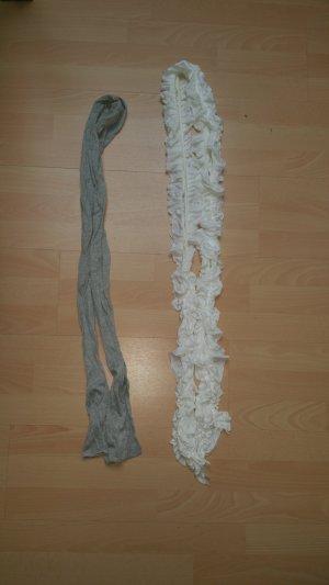 Sjaal wit-lichtgrijs