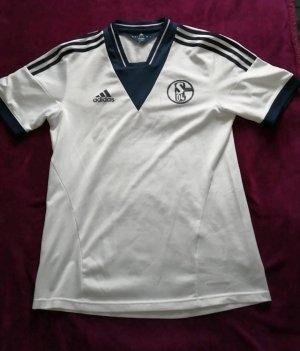 Adidas Sportshirt wit-blauw
