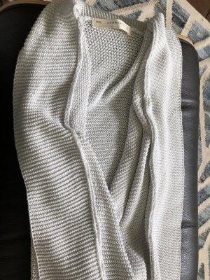 Schalkragen-Strickjacke mit Fledermausärmeln