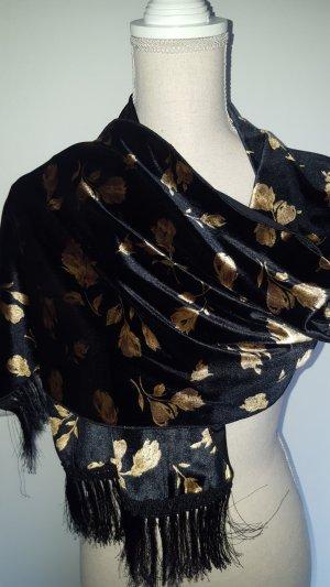 Sjaal zwart-goud