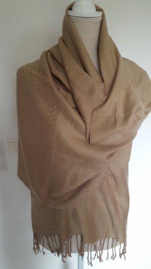 Écharpe en soie brun sable