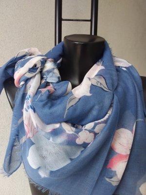 Schals Jeansfarbe,rosa,coralfarbe