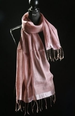 Neckerchief dusky pink silk