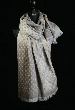 Neckerchief silver-colored-beige wool
