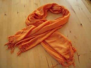 Schaltuch orange mit Fransen