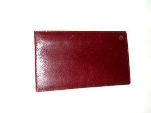 Aigner Hand Fan russet leather