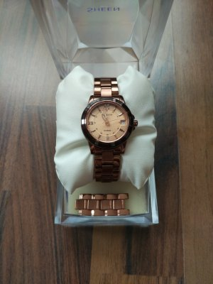 Casio Watch With Metal Strap bronze-colored-rose-gold-coloured