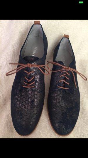 Schick-elegante dunkelblaue Schnürschuhe, Größe 42