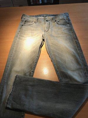 Schick und slim: 7 for all mankind graue Kimmie Straight Jeans in 26