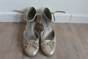 Tamaris Strapped High-Heeled Sandals gold-colored-silver-colored