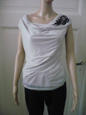 Schicke ärmellose Bluse mit Wasserfallausschnitt