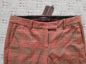 Promod Pantalone da abito marrone-rosso scuro