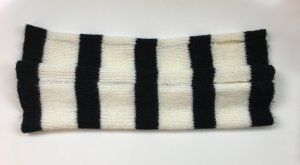 H&M Legwarmers black-white