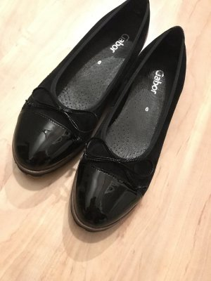 Gabor Patent Leather Ballerinas black-brown