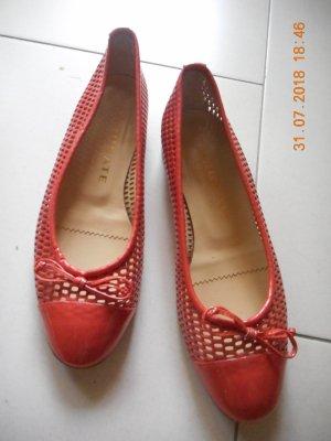 Brunate Patent Leather Ballerinas neon orange-red