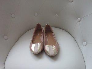 Schicke Ballerinas in Rosa, Creme, Rosegold und Gold