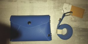 Bumbag silver-colored-steel blue