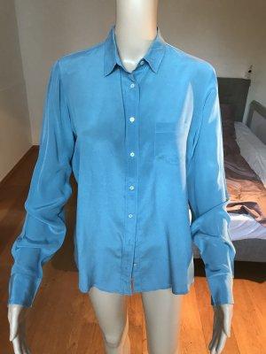 Schicke blaue Bluse aus Seide von ZARA Größe L