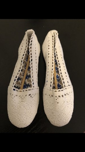 Anna Field Ballerinas with Toecap white