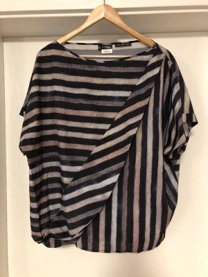 Fashion hero for s.Oliver Oversized blouse zwart-lichtgrijs