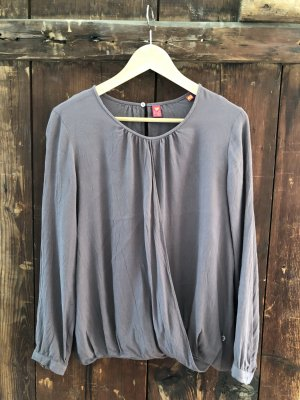 schicke Bluse aus Viscose crepe in Taupe
