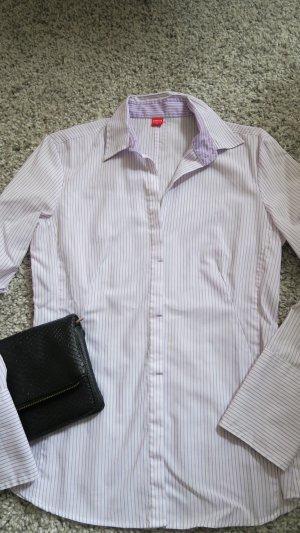 schicke Bluse Businessbluse - weiß lila gestreift