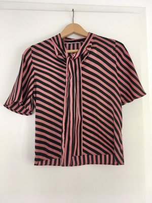 Mango Short Sleeved Blouse black-pink synthetic fibre