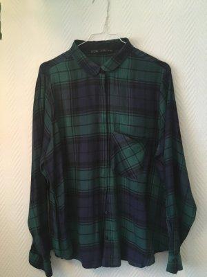 Schicke Bluse grün/blau kariert