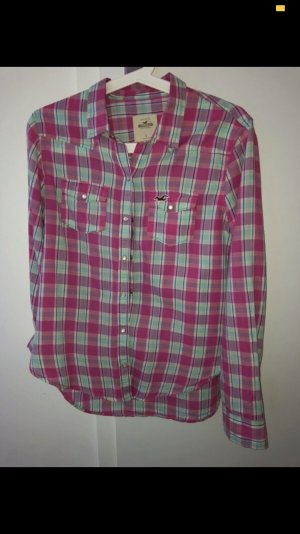 Hollister Blouse à carreaux multicolore