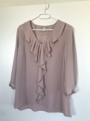 H&M Ruffled Blouse dusky pink