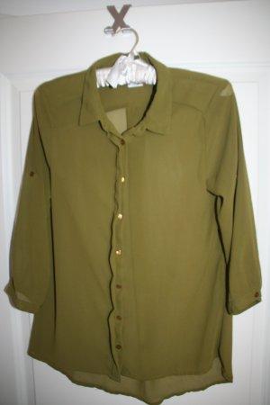 Schicke Bluse in oliv