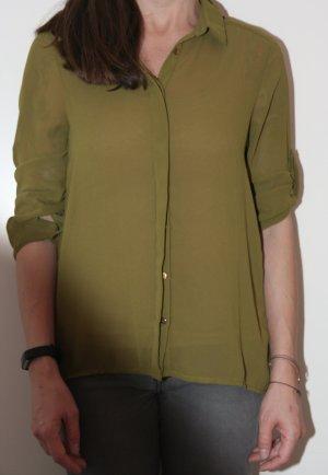Schicke Bluse in olivgrün