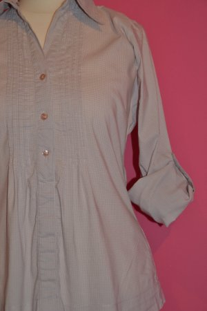 Schicke Bluse mit feinem Streifen-/Karomuster altrosa Gr. 36