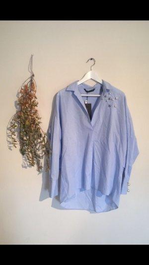 Zara Blusa-camisa azul