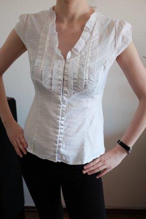 schicke Bluse mit Streifen und Glanz