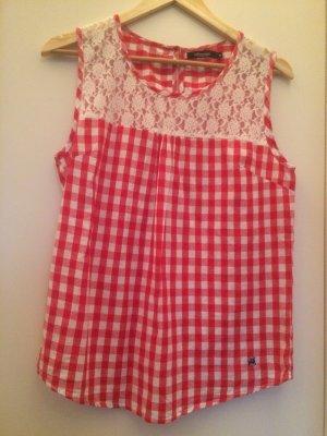 Alprausch Camisa folclórica blanco-rojo