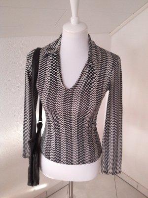 schicke Bluse,retro,schwarz-weiß,promod,Gr.34