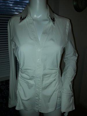 Laurèl Chaqueta tipo blusa blanco puro