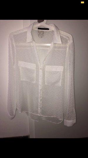 Zara Basic Transparante blouse wit