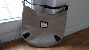 Schicke Bogner Tasche in creme mit dunkelbraunen Applikationen