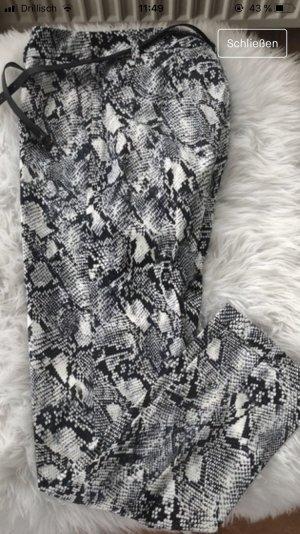 esprit collection Pantalon chinos noir-blanc