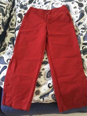 Zara Trafaluc Pantalone culotte rosso mattone