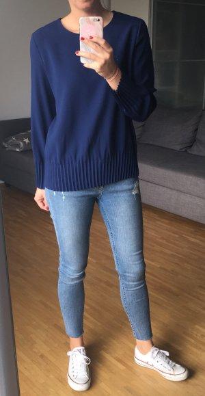 COS Blouse met lange mouwen donkerblauw Polyester