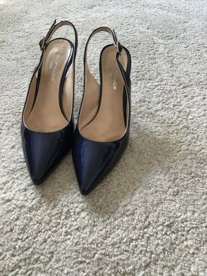 Phillip Hardy Paris Slingback Pumps blue leather